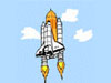 Cartoon of space shuttle